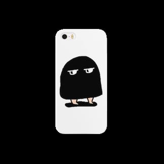 メジェドのメジェド(黒) Smartphone cases