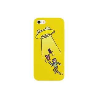 ねこうさぎUFOケースB Smartphone cases