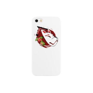 和風・狐面 Smartphone cases