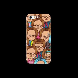 KAGE310のゆるメガネがいっぱいスマートフォンケース