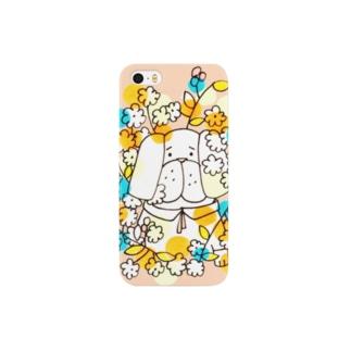 お花畑からパグ(iPhone 5/5s) Smartphone cases