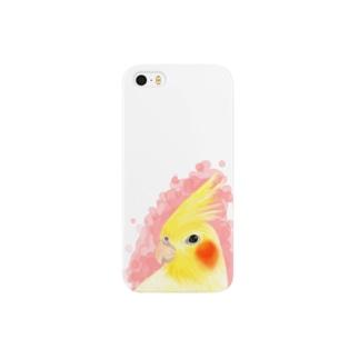 オカメインコ ルチノー【まめるりはことり】 Smartphone cases