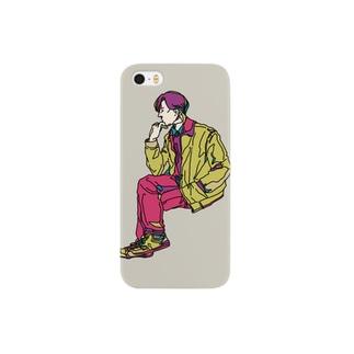 考え事男子 Smartphone cases