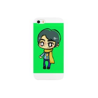 黄色マフラーの男の子じゅんくん Smartphone cases
