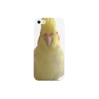 オカメインコの正面顔 Smartphone cases