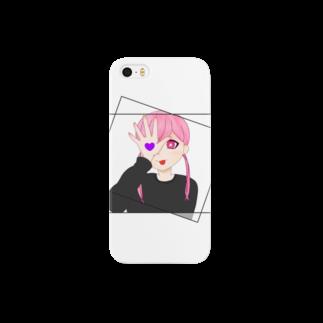 dendendoのPinkTwinGirl Smartphone cases