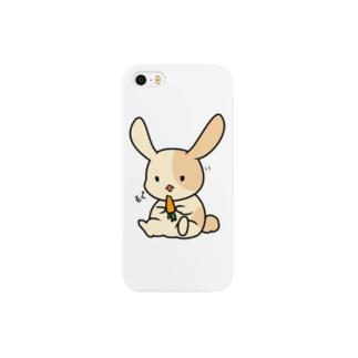 塩対応なウサギ(iPhone5のスマホケース) Smartphone cases