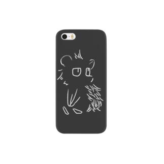 見つめる針鼠(白)【iPhoneSE,5,5s専用】 Smartphone cases