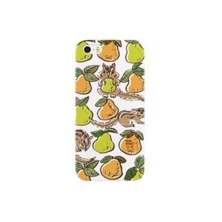 シマリスと洋梨 Smartphone cases