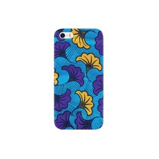 ゲヌ アフリカンプリント イチョウ Smartphone cases