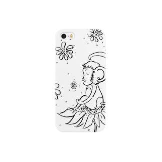 幸せの花とさる Smartphone cases
