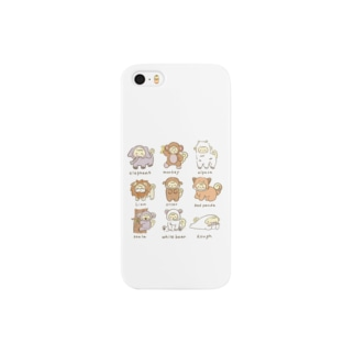 動物いっぱいふわ Smartphone cases