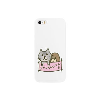 猫と女の子 スマートフォンケース