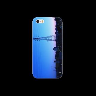 chiakichiの鉄塔sunrise Smartphone cases