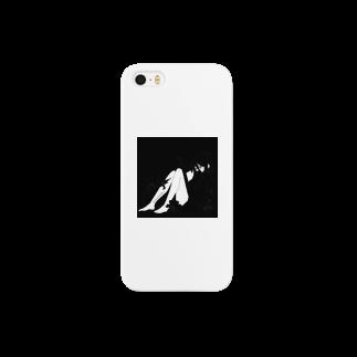 綺の百合・黒 Smartphone cases