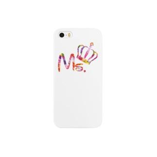 カップルコーデ トレンドの花柄ファッション「Ms.」レディース ピンク Smartphone cases