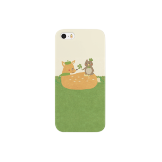 やたにまみこのiPhoneケース(iPhone5 / 5s用)◆ ema-emama『happiness-clover』 スマートフォンケース