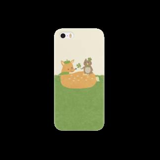 やたにまみこのiPhoneケース(iPhone5 / 5s用)◆ ema-emama『happiness-clover』 Smartphone cases