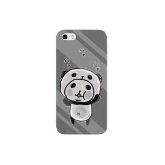 パンダinぱんだ(ハァハァ)グレー Smartphone cases
