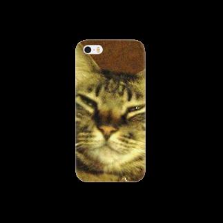 幸せを運ぶ福猫ピー助の幸せを運ぶトラ猫 Smartphone cases
