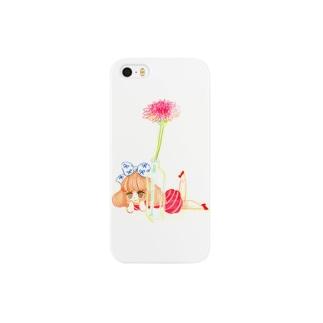 花と私 スマートフォンケース