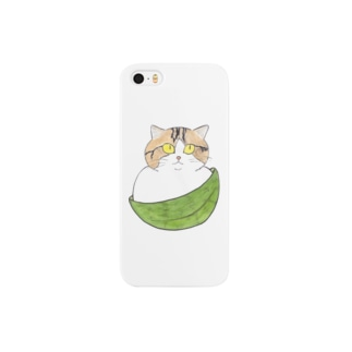 笹の葉まんじゅう猫 Smartphone cases