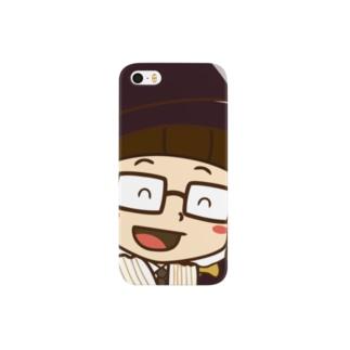 カーテンマンJr.(こんにちは)のスマートフォンケース Smartphone cases