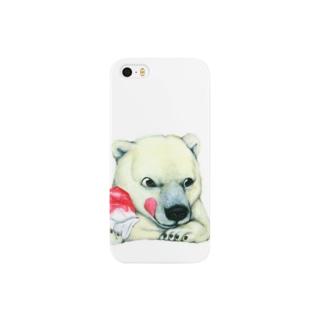 シロクマ×かき氷 Smartphone cases