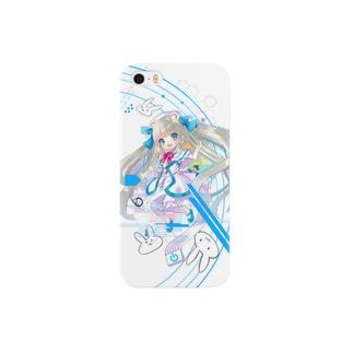 Optical fiber girl White Smartphone cases