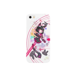 Optical fiber girl Black Smartphone cases