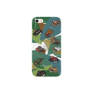 葉っぱの上のまんまるハエトリグモ Smartphone cases