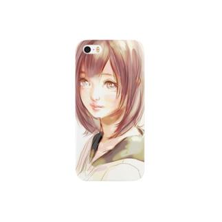 女子高生 スマートフォンケース