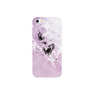 書家/甘雨 墨象[黒揚羽] Smartphone cases
