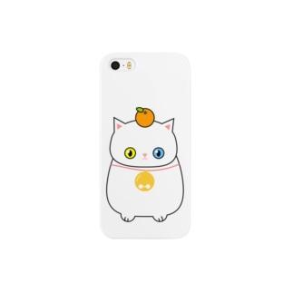 鏡餅に扮した白猫さん Smartphone cases