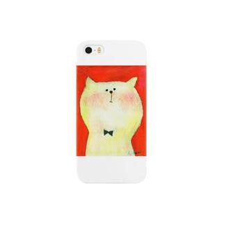 白ねこサム Smartphone cases