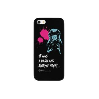怖話-Girlイラスト4(iPhone5 Case Black) スマートフォンケース
