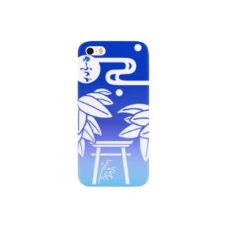 七夕(白&青色彩)/iPhoneケース スマートフォンケース