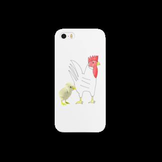 ★いろえんぴつ★のにわとりとヒヨコ Smartphone cases