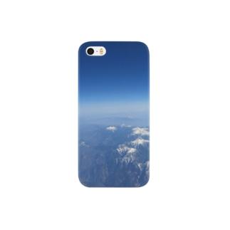 大空からの雪山 Smartphone cases