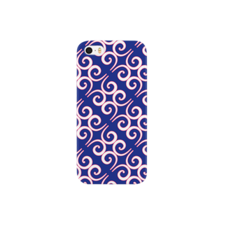 q_pのアイヌ紋様風 Smartphone cases