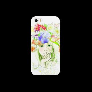 manomanoの花たちとアリス Smartphone cases