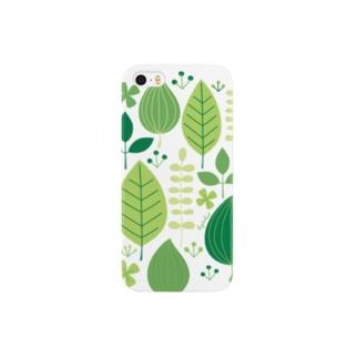 緑の葉 Smartphone cases