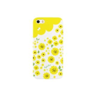 黄色の花畑 Smartphone cases