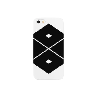 家紋 0053 四つ目菱 Smartphone cases