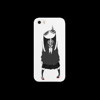 さよならさんかく またきてしかくの憂鬱女子 Smartphone cases