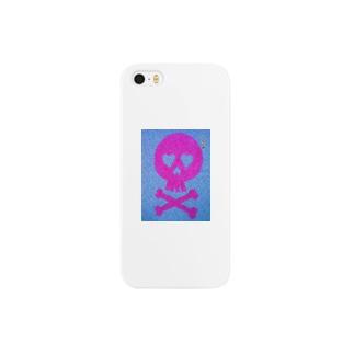ピンクスカル柄マグカップ Smartphone cases