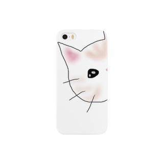 覗く猫 Smartphone cases
