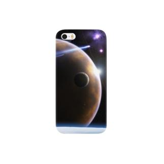 外宇宙の惑星の風景 Smartphone cases