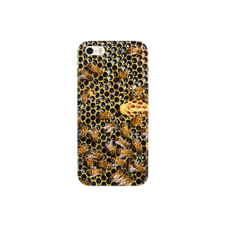 higehigeのHow doth the little busy bee Smartphone cases