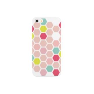 pink honeycomb スマートフォンケース